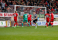 GOAL - Grimsby Town's Sam Jones rebounded effort is turned home by Grimsby Town's Akwasi Asante (not in shot) during the Sky Bet League 2 match between Leyton Orient and Grimsby Town at the Matchroom Stadium, London, England on 11 March 2017. Photo by Carlton Myrie / PRiME Media Images.