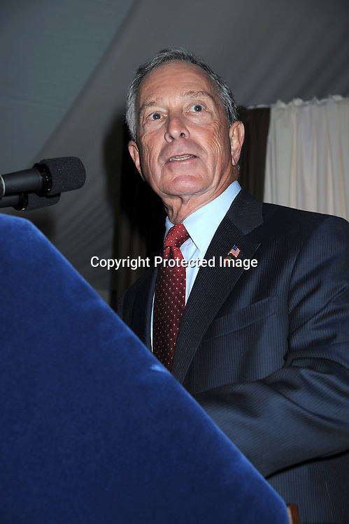 Mayor Michael Bloomberg  speaking at The 2010 Fete de Swifty .which benefits The Mayor's Fund to Advance New York City on September 29, 2010 at  73rd Street and Lexington Avenue in New York City.
