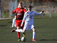 Sebastian Krieg (Büttelborn) gegen Jan Marvin Dell (Unter-Flockenbach) - 25.02.2018: SKV Büttelborn vs. SV Unter-Flockenbach, Gruppenliga Darmstadt