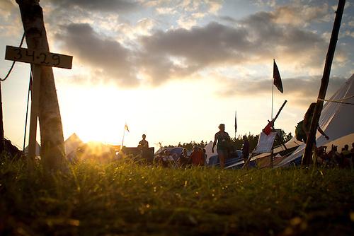 Sunset at the Summer town. Photo: Mikko Roininen / Scouterna