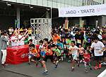 September 30, 2017, Tokyo, Japan - People start for a family run at a charity run for the Special Olympics at Toyota's showroom Mega Web in Tokyo on Saturday, September 30, 2017. Some 1,800 people participated the charity event as Japan's Special Olympic Games will be held in Aichi in 2018.   (Photo by Yoshio Tsunoda/AFLO) LWX -ytd-