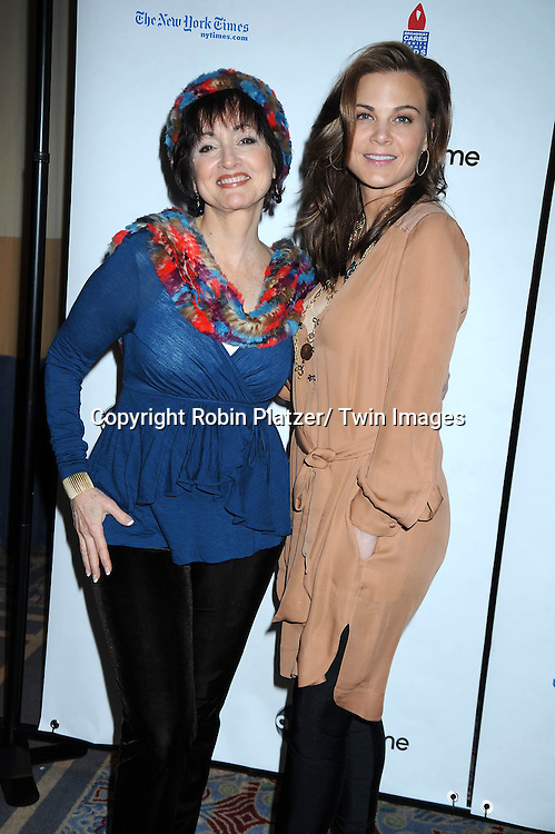 "Robin Strasser and Gina Tognoni posing for photographers at The ABC Daytime Salutes Broadway Cares/ Equity Fights Aids "" An Evening of Musical Entertainment and Comedy""  Benefit after party  on March 13, 2011 at the Marriott Marquis Hotel in New York City."