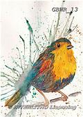 Simon, REALISTIC ANIMALS, REALISTISCHE TIERE, ANIMALES REALISTICOS, paintings+++++KatherineW_SplatterBird,GBWR13,#a#, EVERYDAY