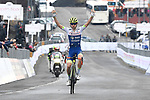 Guillaume Martin (FRA) Wanty-Gobert Cycling Team wins Stage 4 of Il Giro di Sicilia 2019 running 119km from Giardini Naxos to Mount Etna (Nicolosi), Italy. 6th April 2019.<br /> Picture: LaPresse/Fabio Ferrari | Cyclefile<br /> <br /> All photos usage must carry mandatory copyright credit (&copy; Cyclefile | LaPresse/Fabio Ferrari)