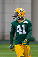 Green Bay Packers cornerback Lenzy Pipkins (41) during an Organized Team Activity on May 23, 2017 at Clarke Hinkle Field in Green Bay, Wisconsin.  (Brad Krause/Krause Sports Photography)