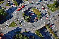 Kreisverkehr Waldwiesenverteilerl: EUROPA, DEUTSCHLAND, SCHLESWIG- HOLSTEIN,  (GERMANY), 06.09.2013: Kreisverkehr Waldwiesenverteiler