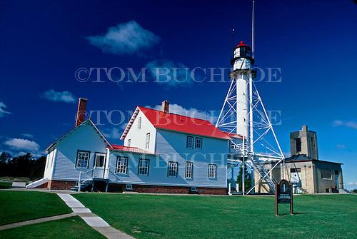 Whitefish Point Lighthouse, Whitefish Point, Michigan, Upper Peninsula of MIchigan, Lake Superior.