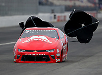 Feb 10, 2018; Pomona, CA, USA; NHRA pro stock driver Drew Skillman during qualifying for the Winternationals at Auto Club Raceway at Pomona. Mandatory Credit: Mark J. Rebilas-USA TODAY Sports