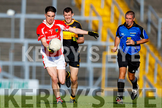 Dr Crokes in action against Brian Ó Beaglaoich West Kerry in the Kerry Senior Football Championship Semi Final at Fitzgerald Stadium on Saturday.