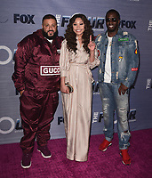 "HOLLYWOOD, CA - FEBURARY 8:  DJ Khaled,  Evvie McKinney and Sean ""Diddy"" Combs at FOX's ""The Four: Battle for Stardom"" Season Finale Viewing Party  at Delilah on February 8, 2018 in Hollywood, California. (Photo by Scott Kirkland/FOX/PictureGroup)"