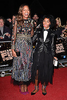 "Naomie Harris and Janelle Monae<br /> at the London Film Festival premiere for ""Moonlight"" at the Embankment Gardens Cinema, London.<br /> <br /> <br /> ©Ash Knotek  D3163  06/10/2016"