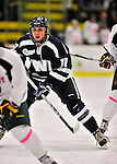 29 January 2012: University of New Hampshire Wildcat forward Kristine Horn, a Junior from Utica, MI, in action against the University of Vermont Catamounts at Gutterson Fieldhouse in Burlington, Vermont. The Lady Cats edged out the Lady Wildcats 2-1 to split their Hockey East twin-game weekend series. Mandatory Credit: Ed Wolfstein Photo