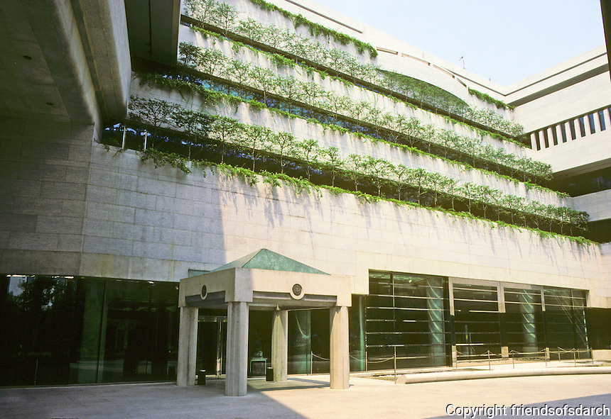 Washington D.C. : Canadian Embassy Terrace. Note similarity to courts in Vancouver. Photo '91.