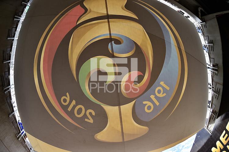 Orlando, FL - Wednesday June 08, 2016:  Copa America Centenario banner prior to a Copa America Centenario Group B match between Brazil (BRA) and Haiti (HAI) at Camping World Stadium.