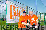 "Launching ""Give It  A Tri"" for Artritis Ireland week, on behalf of the Tralee branch,on Sunday October 11th .Registration begins at 10am swim begins at 11am .Its a fundraiser to also raise awareness of Arthritis.Pictured l-r member of the Tralee branch  Tom Barrett and Ger Collins"