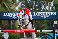 BEL-Gregory Wathelet rides MJT Nevados S during the Longines FEI Nations Cup Jumping - Final Competition. CSIO Barcelona. Reial Club de Polo de Barcelona. Spain. Sunday 6 October. Copyright Photo: Libby Law Photography