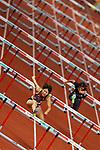 Masumi Aoki (JPN), <br /> AUGUST 25, 2018 - Athletics : <br /> Women's 100mH Qualification <br /> at Gelora Bung Karno Main Stadium <br /> during the 2018 Jakarta Palembang Asian Games <br /> in Jakarta, Indonesia. <br /> (Photo by Naoki Morita/AFLO SPORT)