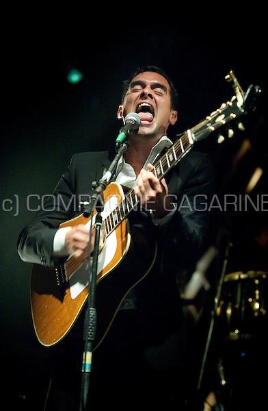 Puerto Rican musician Gabriel Rios in concert at the Casablanca festival in Hemiksem (Belgium, 04/08/2011)