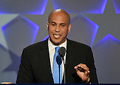 United States Senator Cory Booker (Democrat of New Jersey) makes remarks at the 2016 Democratic National Convention at the Wells Fargo Center in Philadelphia, Pennsylvania on Monday, July 25, 2016.<br /> Credit: Ron Sachs / CNP<br /> (RESTRICTION: NO New York or New Jersey Newspapers or newspapers within a 75 mile radius of New York City)