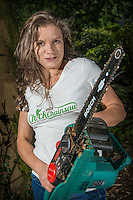 Chick with Chainsaw