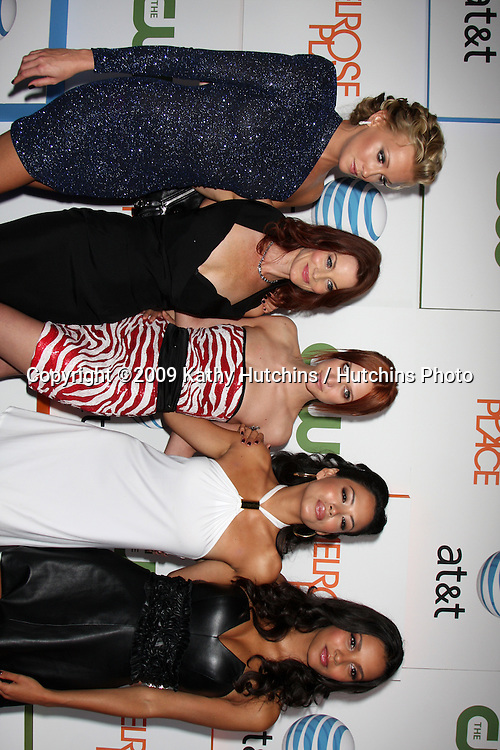 Katie Cassidy, Laura Leighton, Ashlee Simpson-Wentz, Stephanie Jacobsen, and Jessica Lucas  arriving at  Melrose Place Premiere Party on Melrose Place, in  Los Angeles, CA on August 22, 2009.©2009 Kathy Hutchins / Hutchins Photo.
