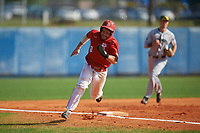 Bradley Braves Luke Shadid (10) running the bases during a game against the Dartmouth Big Green on March 21, 2019 at Chain of Lakes Stadium in Winter Haven, Florida.  Bradley defeated Dartmouth 6-3.  (Mike Janes/Four Seam Images)