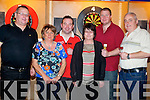 DARTS: Trowing Darts in The McHale Stretford End Bar & Restaurant, on Saturday night, L-r: John McHale, Mary Egan, Brendan Dolan, Margaret Kelliher, Paudie marshall and Aodhagán O'Neill.