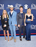 LAS VEGAS, CA - APRIL 07: Brittney Marie Cole Kelley, Brian Kelley, Tyler Hubbard of Florida Georgia Line and Hayley Hubbard attend the 54th Academy Of Country Music Awards at MGM Grand Hotel &amp; Casino on April 07, 2019 in Las Vegas, Nevada.<br /> CAP/ROT/TM<br /> &copy;TM/ROT/Capital Pictures