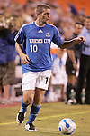 Aug 19 2007:  Carlos Marinelli (10) of the Wizards.  The MLS Kansas City Wizards were defeated by the visiting New England Revolution 0-1 at Arrowhead Stadium in Kansas City, Missouri, in a regular season league soccer match.