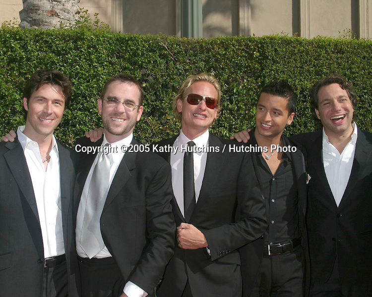 Cast of Queer Eye for the Straight Guy    .Creative Arts Emmy Awards.Shrine Auditorium.September 11, 2005.©2005 Kathy Hutchins / Hutchins Photo....
