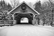 Franconia Notch State Park - Flume Covered Bridge in Lincoln, New Hampshire USA