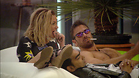 Celebrity Big Brother 2017<br /> Sarah Harding, Karthik Nagesan and Chad Johnson.<br /> *Editorial Use Only*<br /> CAP/KFS<br /> Image supplied by Capital Pictures