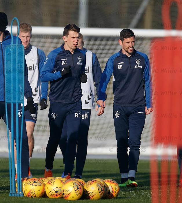 01.02.2019: Rangers training: Ryan Jack and Graham Dorrans
