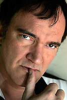 LOS ANGELES,CA - AUGUST 7,2009:  Quentin Tarantino photographed outside his Hollywood Hills home, August 6, 2009.