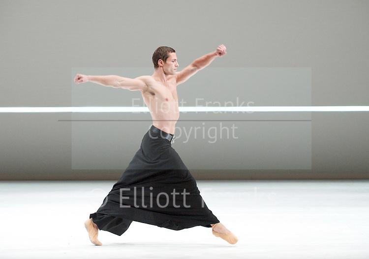 Dutch National Ballet <br /> Hans Van Manen - Master of Dance<br /> Grosse Fuge<br /> rehearsal / photocall<br /> 12th May 2011<br /> at Sadler's Wells. London, Great Britain <br /> <br /> Alexander Zhembrovskyy<br /> Photograph by Elliott Franks