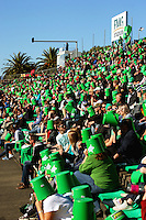 A stand full of Bucketheads. ITM Cup rugby - Manawatu Turbos v Wellington Lions at FMG Stadium, Palmerston North, New Zealand on Saturday, 4 September 2010. Photo: Dave Lintott/lintottphoto.co.nz
