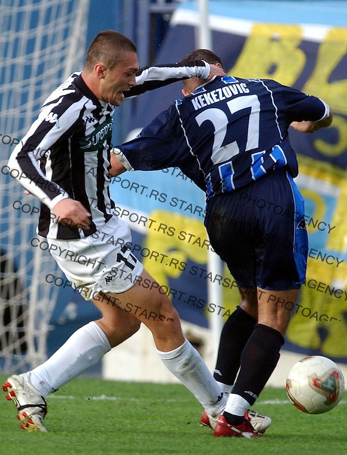 FUDBAL.PRVENSTVO SCG 2003/2004.SARTID-PARTIZAN.ivica ilijev.SMEDEREVO, 05.10.2003..FOTO: SRDJAN STEVANOVIC