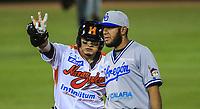 Alejandro Flores Carrillo de Naranjeros, durante la apertura de la temporada de beisbol de la Liga Mexicana del Pacifico 2017 2018 con el partido entre Naranjeros vs Yaquis. 11 octubre2017 . <br /> (Foto: Luis Gutierrez /NortePhoto.com)