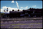 D&amp;RGW #484 K-36 - Chama - engine house in background<br /> D&amp;RGW  Chama, NM