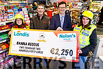 Nolan's Garage presenting the sum of €2, 250 to Banna Sea Rescue on Monday morning, from the recent Row For Rescue fundraiser.<br /> L to r: Amber Dunne (Banna Sea Rescue), Niall Nolan (Nolan's Garage), Gerard Greaney (Londis) and Grainne Costello (Banna Sea Rescue).