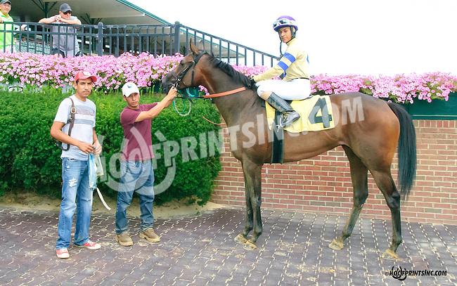 Vince's Vanentina winning at Delaware Park on 8/18/15