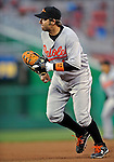 29 March 2008: Baltimore Orioles' first baseman Kevin Millar in action during an exhibition game against the Washington Nationals at Nationals Park, in Washington, DC. The matchup was the first professional baseball game played in the new Nationals Park, prior to the upcoming official opening day inaugural game. The Nationals defeated the Orioles 3-0...Mandatory Photo Credit: Ed Wolfstein Photo