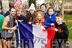 Tim Francony, Norma McElligott, Mary Duggan, Emily McElligott, Marie O'Shea, Catherine Duggan and John Duggan  at the Kerry's Eye Tralee, Tralee International Marathon and Half Marathon on Saturday.