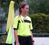 20200723, BEVEREN ,  BELGIUM : assistant referee Chloe Van Mingeroet pictured during a friendly soccer game between Bosdam Beveren and Club Brugge YLA Dames  in the preparations for the coming season 2020 - 2021 of Belgian Women's SuperLeague ,23 th of July 2020  in Beveren , Belgium . PHOTO SPORTPIX.BE | SEVIL OKTEM