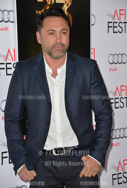 Boxer Oscar De La Hoya at the premiere of &quot;The 33&quot;, part of the AFI FEST 2015, at the TCL Chinese Theatre, Hollywood. <br /> November 9, 2015  Los Angeles, CA<br /> Picture: Paul Smith / Featureflash