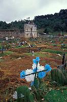 Graveyard in the Maya village of San Juan Chamula, Chiapas, Mexico