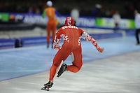 SCHAATSEN: HEERENVEEN: Thialf, Essent ISU World Cup, 02-03-2012, 500m Men, Dmitry Lobkov (RUS), achteraanzicht schaatser, ©foto: Martin de Jong