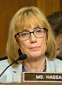 United States Senator Maggie Hassan (Democrat of New Hampshire) listens as the US Senate Committee on Commerce, Science, and Transportation conducts hearings to examine the nominations of Ajit Varadaraj Pai, Jessica Rosenworcel, and Brendan Carr, each to be a Member of the Federal Communications Commission on Capitol Hill in Washington, DC on Wednesday, July 19, 2017.<br /> Credit: Ron Sachs / CNP
