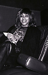 Tina Turner on her way to her rehearsal for Saturday Night Live on October 27, 1981 in New York City.