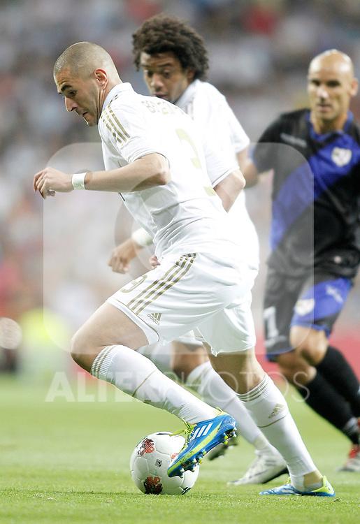 Real Madrid's Karim Benzema during La Liga Match. September 24, 2011. (ALTERPHOTOS/Alvaro Hernandez)